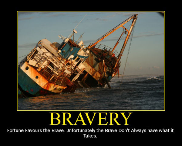 Fortune favours the brave essay