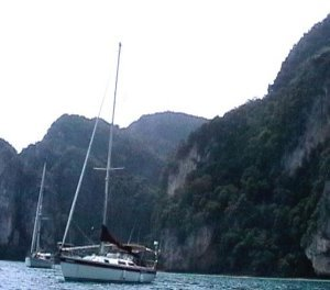 Dreamtime Anchored off Phi Phi
